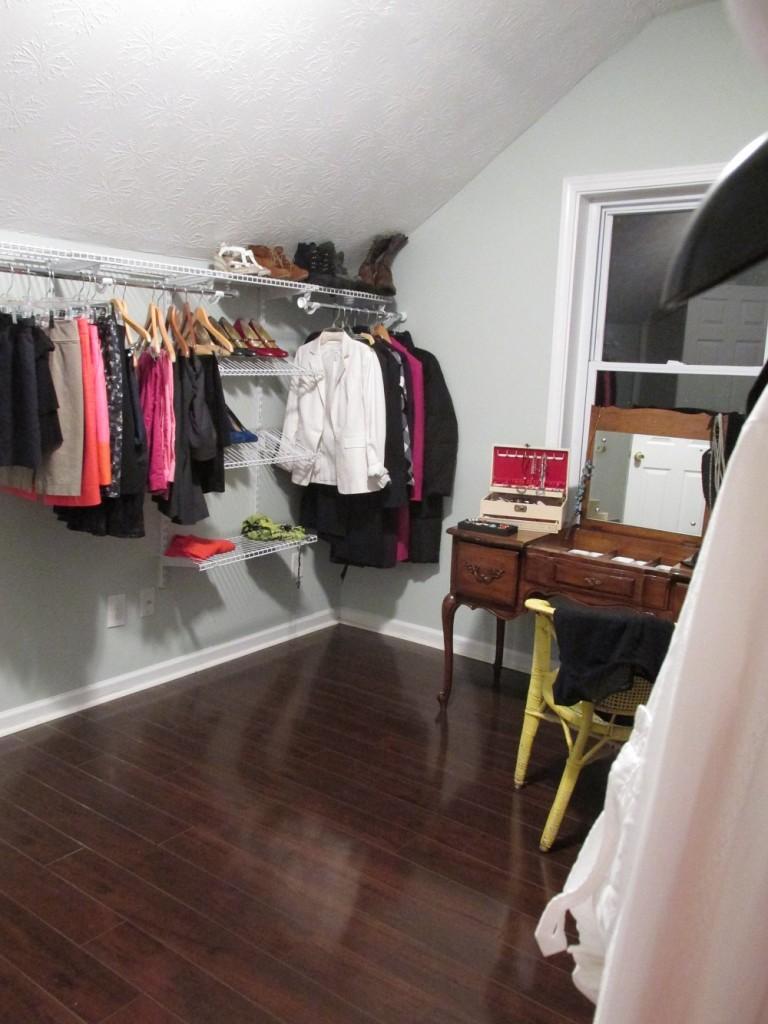 second side of closet