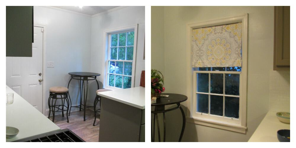 2nd before and after window treatment collage