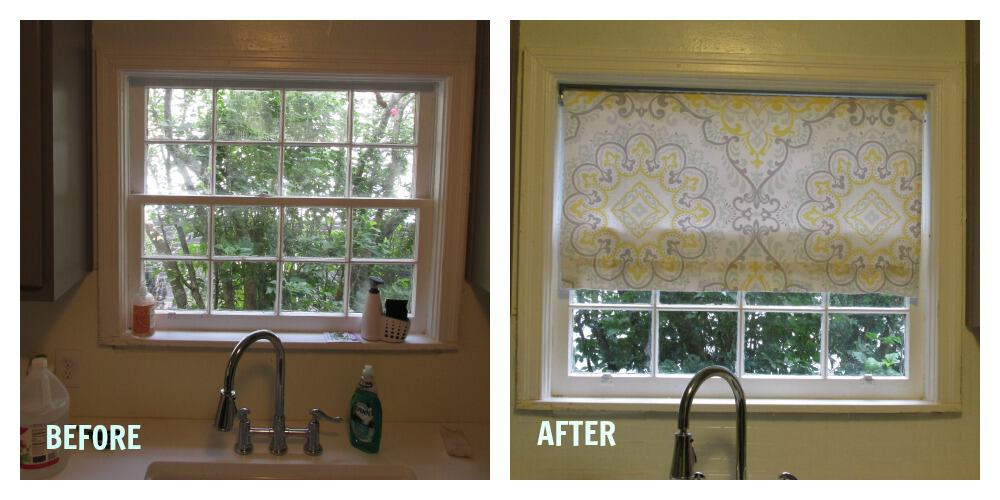 window treatment before and after