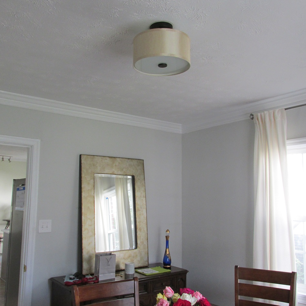 dining room light fixture before