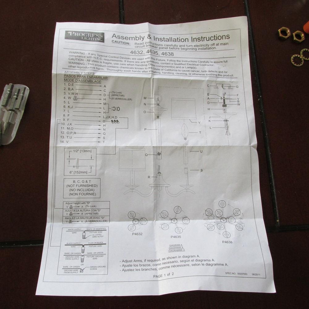 progress lighting instructions