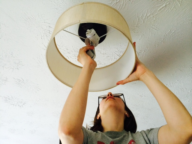 taking down existing light fixture