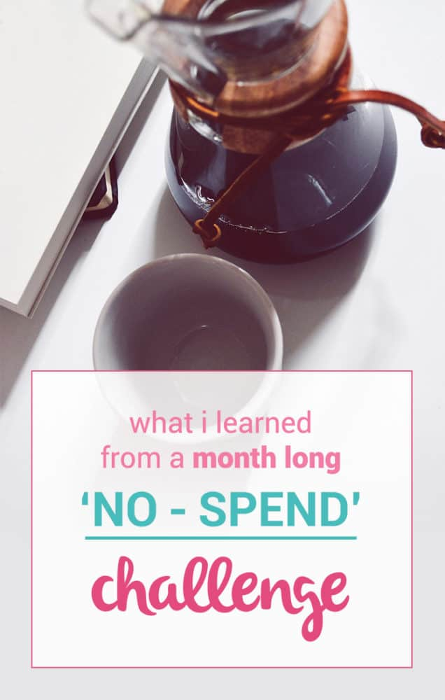 """I just finished up a whole month of not spending money. Well, sort of. See what I've learned from my latest month-long """"no-spend"""" challenge."""