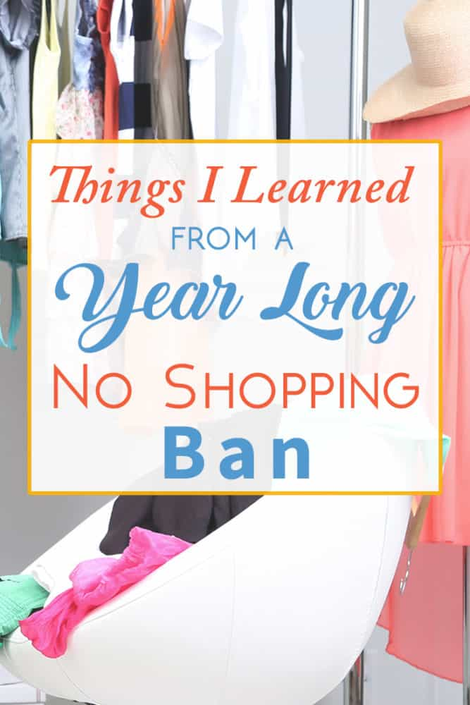 A Year Long No Shopping Ban
