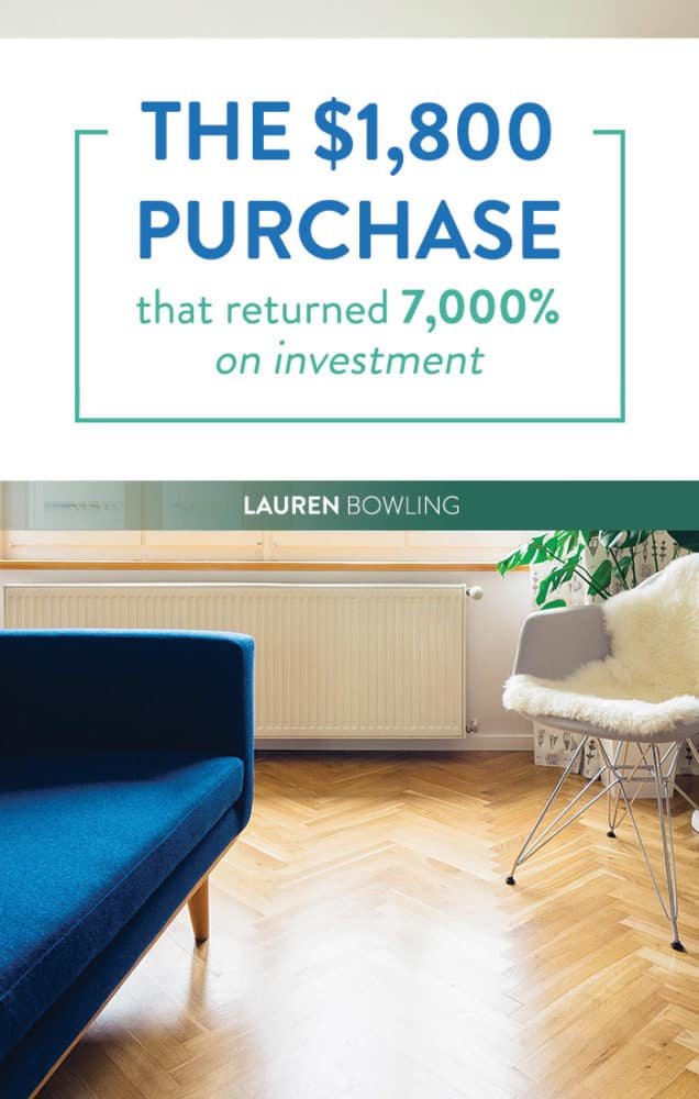 The $1,800 Purchase that Returned 7,000% on Investment